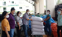 Fifteen (15) sacks of rice were given to its recipient, Monica R. Robido